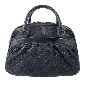 Louis Vuitton Vienna Leather Mizi In Black